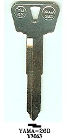 JMA YAMA-26D Key Blank for Yamaha YM63/X248
