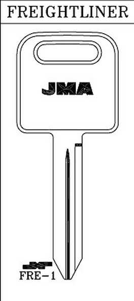 Key blank, JMA FRE1 for Freightliner 1588