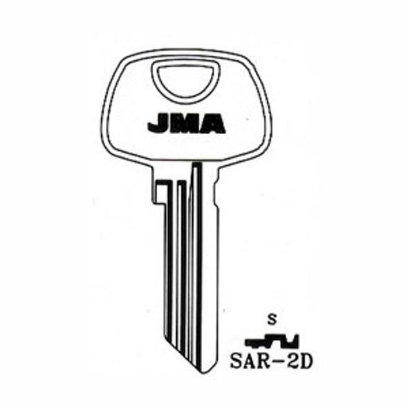 Key blank, JMA SAR2D for Sargent 1010N/S68