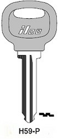 Key blank, Ilco H59P for Ford X202 (RH)