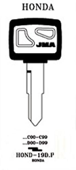 JMA HOND-19D.P Key Blank for Honda HD75/X138 (RH)