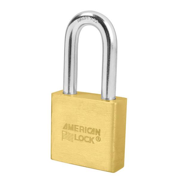 American Lock A5571 Brass Body Padlock, Keyed Different