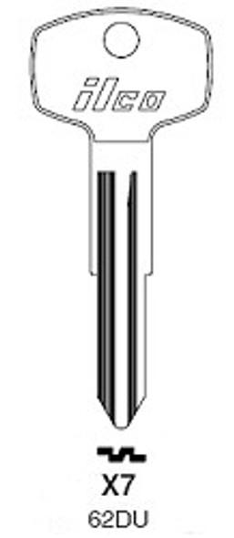 Ilco 62DU Key Blank for Datsun/Nissan X7