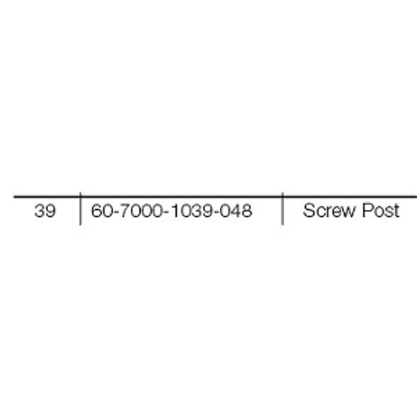 Yale 60-7000-1039-048 Screw Post for 7000 Series Trim