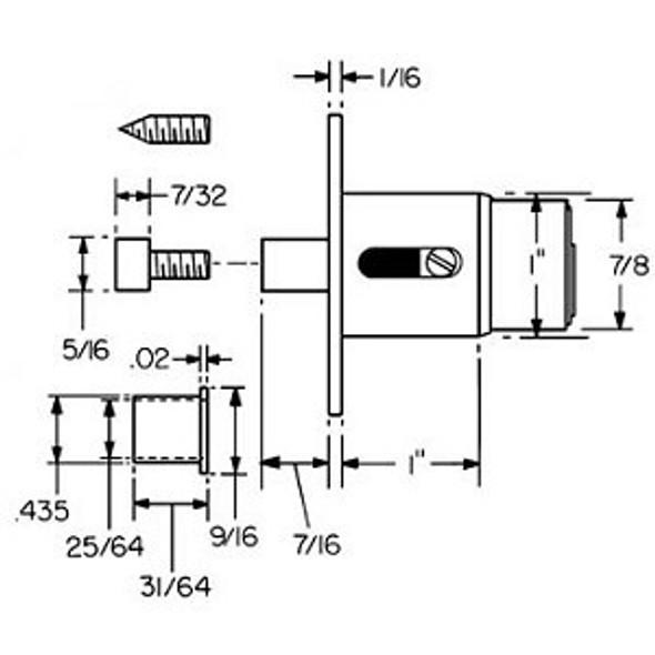 Olympus 300SD 915 26D Sliding Door Lock Keyed Alike 915