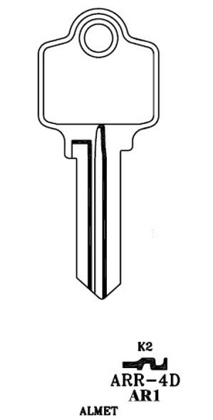 JMA ARR-4DE Key Blank for Arrow 5 PIN
