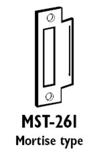 Don-Jo MST261SL Strike Plate for Mortise Lock, SL Finish
