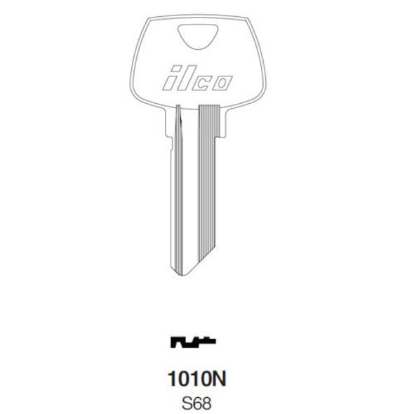 Key blank, Ilco 1010N, Sargent S68