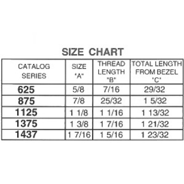 """ESP ULR-625STD KA CH751 5/8"""" Cam Lock, Keyed Alike CH751"""