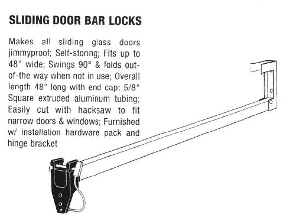 Ultra Sliding Door Bar AL Finish, 44900