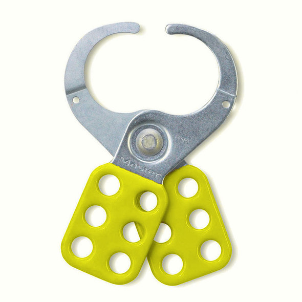 Master Lock 424 Lockout Hasp, Steel Safety, Yellow