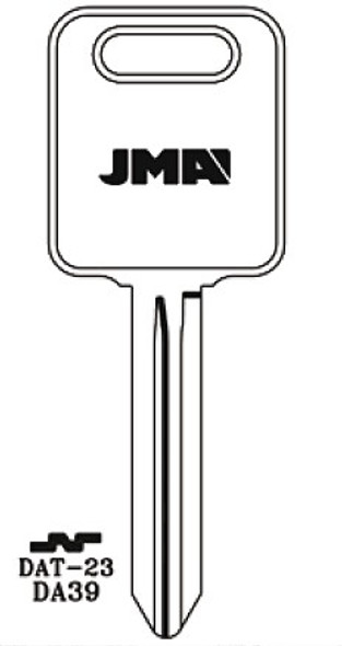 Key blank, JMA DAT23 for Nissan DA39/X268