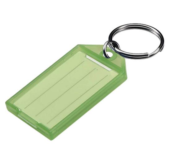 Key Tag, w/Split Ring 60500-40 Green 100/box