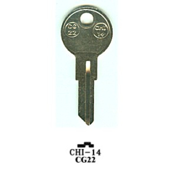 Key blank, JMA CHI14 for Chicago CG22/1041E