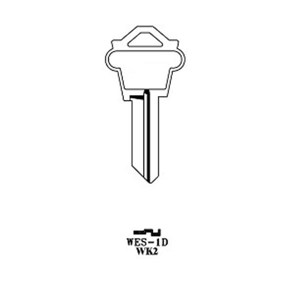 Key blank, JMA WES1DE for Weslock