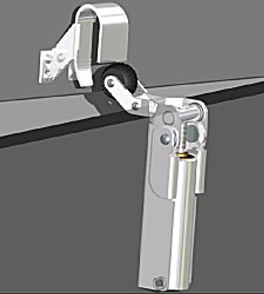 Door Check, #1300, Standard Hook 1009 (Chrome)