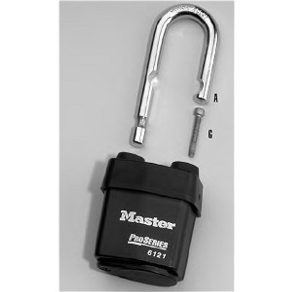 Master Lock  293LJS6121 Replacement Shackle (LJ) for 6121