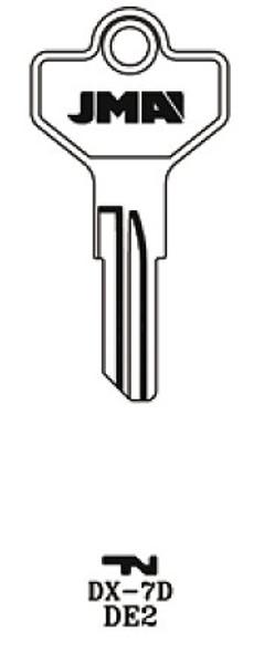 JMA DX-7D Key Blank for Dexter DE2