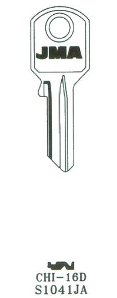 Key blank, JMA CHI16D for Chicago KP9/S1041JA