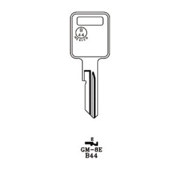 Key blank, JMA GM8E for GM B44-E
