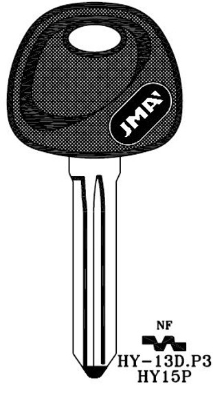JMA HY-13D.P Key Blank for Hyundai  HY15P