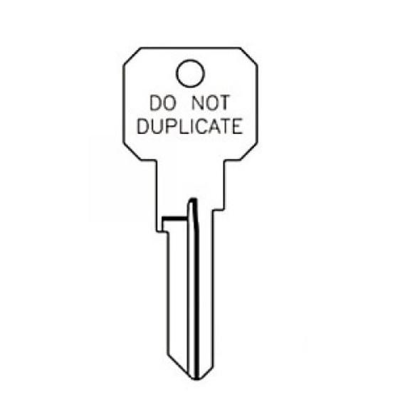 Key blank, JMA KWI2DC for Kwikset KW10, DND