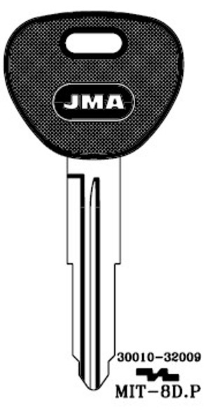 Key blank, JMA MIT8DP for Mitsubishi
