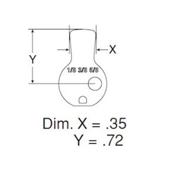 Schlage L583-476 Standard Cam for Mortise Cylinder