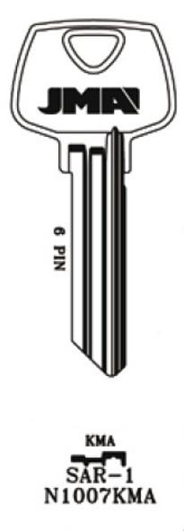 Key blank, JMA SAR1 for Sargent N1007KMA