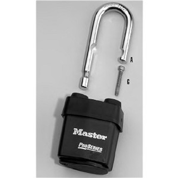 Master Lock 293LJS6125 Replacement Shackle (LJ) for 6125  Series