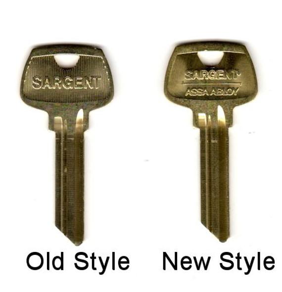 Key blank, Sargent OEM HF 6-pin