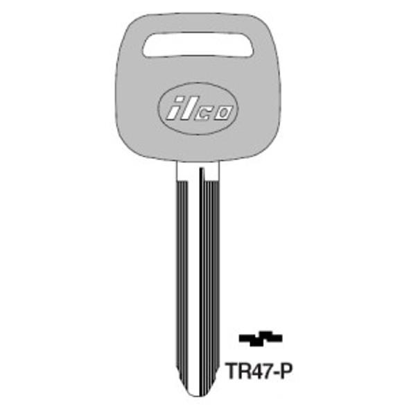Key blank, for Toyota (RH)