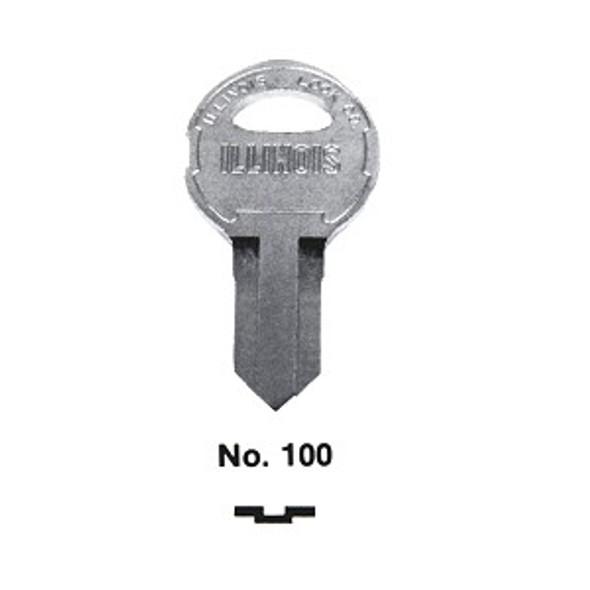 Key blank, Illinois 100