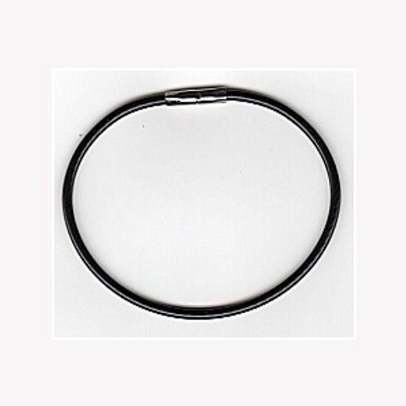 "Lucky Line 0811-7-20 Twisty Key ring, 7"" Bulk Black"
