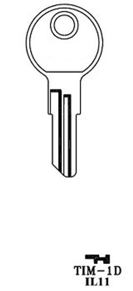 JMA TIM-1DE Key Blank for Timberline IL11/1043J