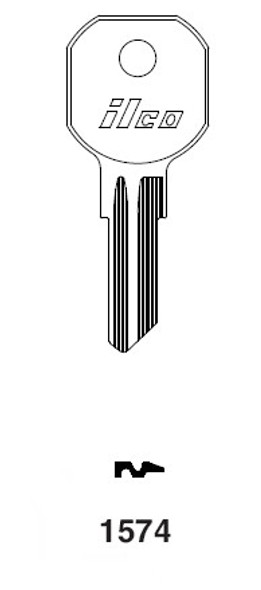 Ilco 1574 Key Blank, Hurd Gas Cap
