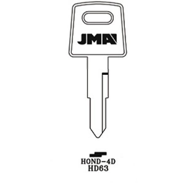 Key blank, JMA HOND4D for Honda HD63/X84