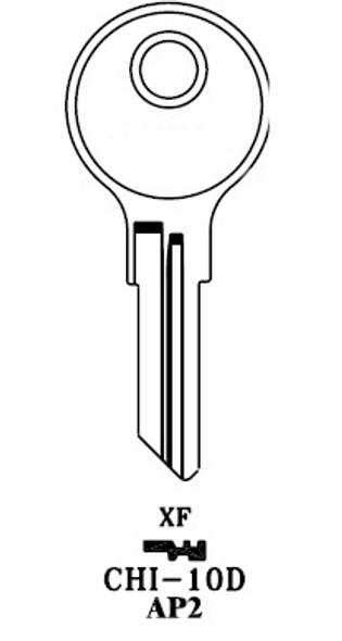Key blank, JMA CHI10DE for Chicago AP2/102AM