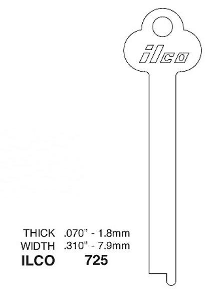 Ilco 725 Key Blank, Flat Stock