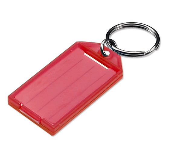 Lucky Line 6057010 Red Key Tag  with Split Ring 605-70 (10-Pack)