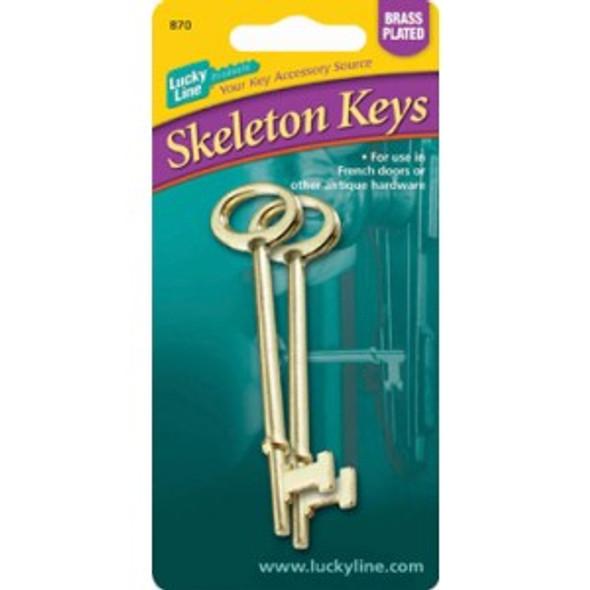 Lucky Line 87002 Skeleton Keys, Flat Tip 2-pack