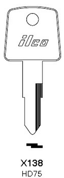 Ilco HD75 Key Blank For Honda X138