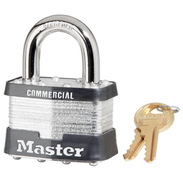Master Lock #5 Laminated Steel Padlock, Keyed Different