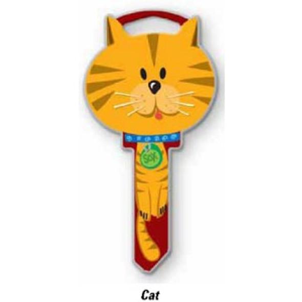 Lucky Line B115K Cat Key Shape, Key Blank for KW1/KW11