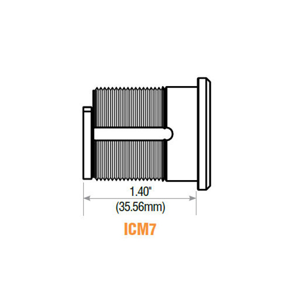 GMS ICM7-26D SFIC Mortise Cylinder Housing