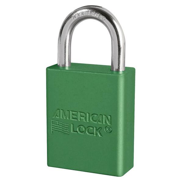 American Lock A1105 Green Padlock, Factory Keyed