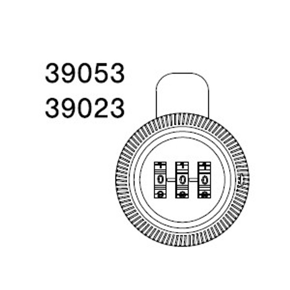 "CCL 39053 Combination Cam Lock 1-7/32"" Chrome"