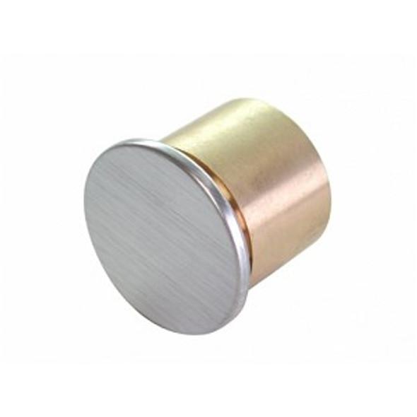 GMS R118D Dummy  Rim Cylinder, Brushed Chrome 26D