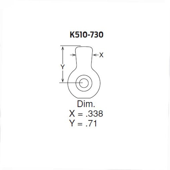 Schlage K510-730 Standard CAM for IC Cylinders
