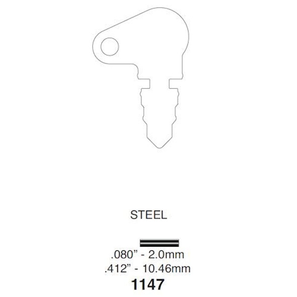 Ilco 1147 Key for Utility Applications